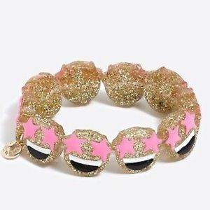 J. Crew Crewcuts Girls' Star Eyes Emoji Bracelet